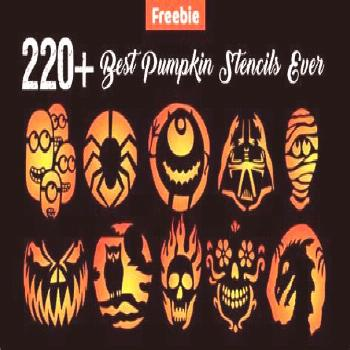 10+ Trending Images of 10 Free Printable Scary Pumpkin Carving Patterns Stencils & Ideas 2014... co