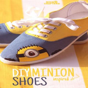 Make these adorable DIY Minion shoes by following these simple, step by step instructions. Such an
