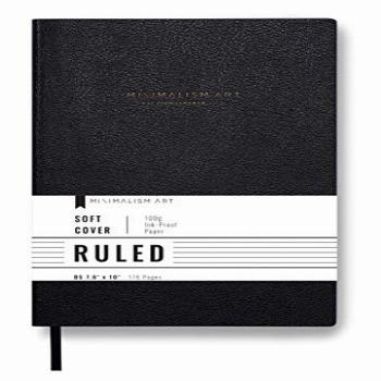 Minimalism Art, Classic Soft Cover Notebook Journal, Large