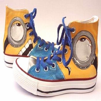 Minion Converse Shoes - Hand Painted Custom Minion Shoes by BlingLogo 100% Hand Painted 100% Authen