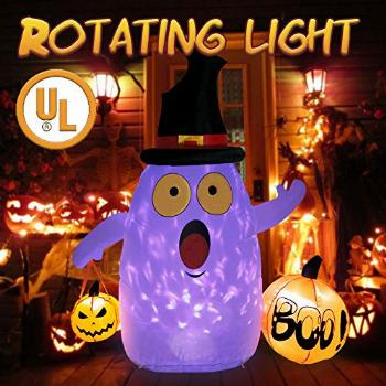 OurWarm Halloween Inflatables 5ft Halloween Ghost with