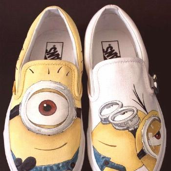 shoes hand painted Despicable Me Shoes Slip-on Painted Ca,Slip-on Painted Canvas Shoes