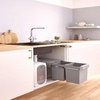 Streamline your kitchen with the new GROHE Waste System Say goodbye to your cumbersome freestanding