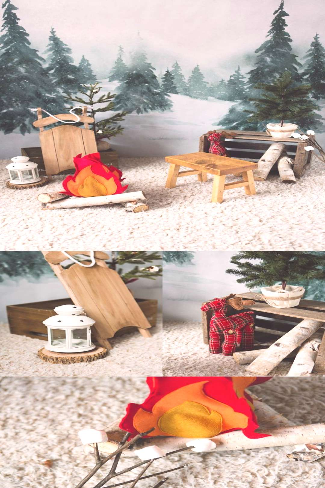 Christmas mini sessions decor idea holiday mini sessions set-up Intuition Backgrounds Vale winter w