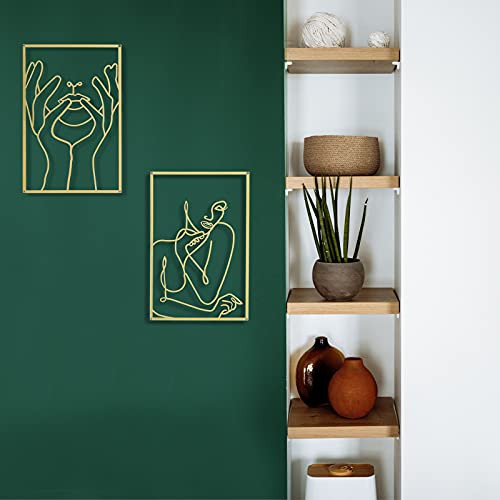DeaTee 2 Pack Gold Wall Art Decor , 0.12 Thicker Real